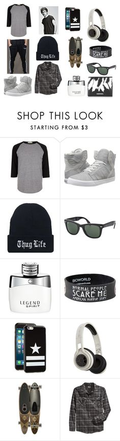 """003"" by direction24-i on Polyvore featuring River Island, Supra, Ray-Ban, Montblanc, Givenchy, SMS Audio, Globe, Retrofit, Diesel and mens"