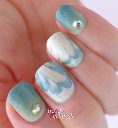 Water marble, nail art, nail design