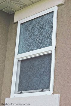 4 Simple Steps To DIY a Lace Privacy Window - homeyou