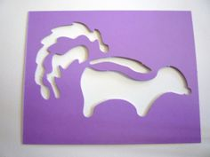 New  One SKUNK Zoo Animal  Decorative Wall by YourScrapbookingShop, $0.99
