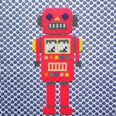 Robot hama beads by Nienke Van De Sande