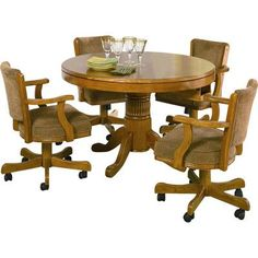 Alcott Hill Corell Park Convertible Poker and Dining Table