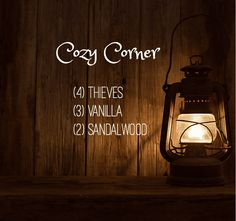 Cozy Corner Essential oil blend, thieves, vanilla, sandalwood