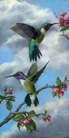 57 Ideas For Tattoo Bird Hummingbirds Nature Images Colibri, Art Colibri, Hummingbird Painting, Hummingbird Tattoo, Tattoo Bird, Pretty Birds, Beautiful Birds, Graffiti Kunst, Hummingbird Pictures