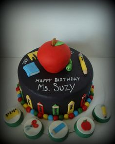 Denleys Cakes and Cookies: School Days / Teacher Cake