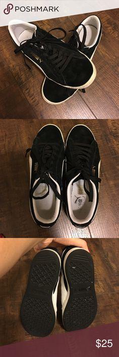 d46ba3df958 Puma Suede Classic Women's Sneakers Black and white suede classic women's  sneakers. These Puma sneakers