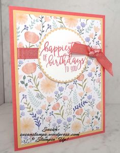 Here is a quick and easy card to make when you don't have a lot of time. I used the stamp set from the 2018 Occasions Catalog called Picture Perfect Birthday. This is such a fun set with a …