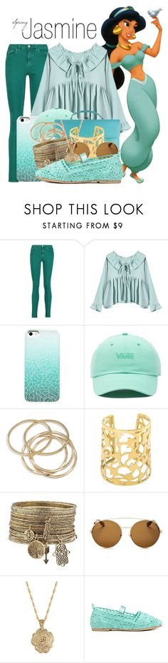 """Jasmine~ DisneyBound"" by basic-disney ❤ liked on Polyvore featuring Disney, Acne Studios, Vans, Chanel, ABS by Allen Schwartz, Givenchy and 2028"