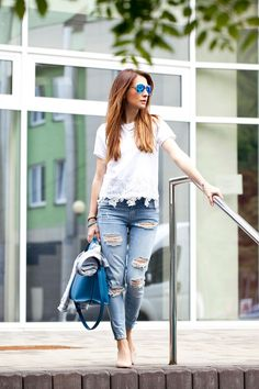 #bluejeans #whiteshirt #summeroutfit
