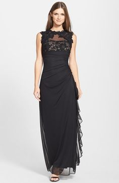 Betsy & Adam Lace & Mesh Gown on shopstyle.com