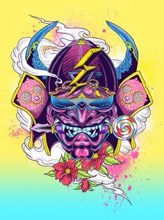 Samurai Gaga by Sean Wei, via Behance
