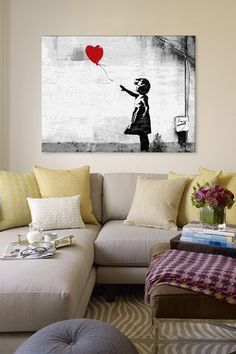 Girl with a Balloon by Banksy Canvas Print