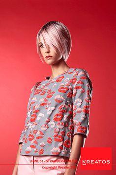 Kreatos kapsels voor vrouwen 2015 - Strawberry Field - haar halflang, pastel blond-roos