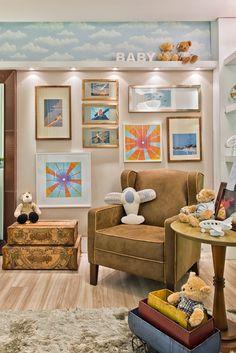 Keyla Kinder - Arquitetura   Interiores   Design decoração avião airplane baby room boy
