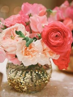 diy glittering wedding centerpiece ideas