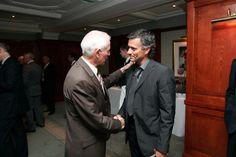 3 August 2005: JOSE MOURINHO greets former CHELSEA FC player PETER BONETTI at CHELSEA FC's Centenary Celebrations Evening...