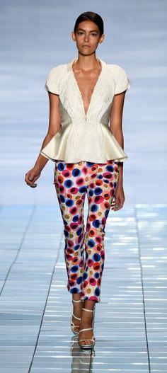 The pants the pants! So fun!! South Korean designer Lie Sang Bong at New York Fashion week.
