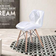 (1) Material: Kunstleder, Schaumstoff, Holz, Metall (2) Farbe: Weiß (3)  Gesamtmaße: 42 X 48 X 69 Cm (BxTxH) (4) Sitzhöhe: 44 Cm (5) Sitzfläche: 42  X 34 Cm ...
