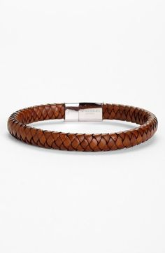 Men's Tateossian 'Cobra' Bracelet - Brown