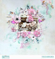 Layout mixed-media. Piątek Trzynastego. Foamiran. Kwiaty. Mixmedia. Scrapbooking Shop DT.