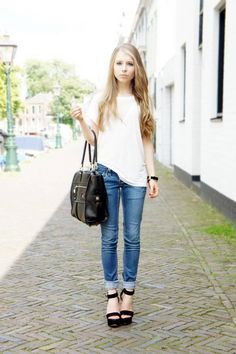 jeans + white