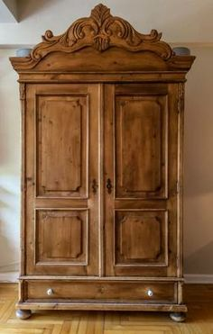 French Country Pine Armoire   $600