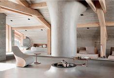60 идей балок на потолке: современное решение для интерьера http://happymodern.ru/balki-na-potolke/ В стиле шале балки в тон интерьера смотрятся очень органично