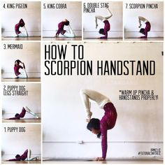 Yoga flow for scorpion handstand progression. Yoga flow for scorpion handstand progression. Related Funny Cheer up Memes to Really Cheer up Your Friends As WellDesigner. Yoga Fitness, Fitness Sport, Fitness Equipment, Training Equipment, Yoga Beginners, Yoga Routine, Handstand Progression, Yoga Handstand Poses, How To Handstand