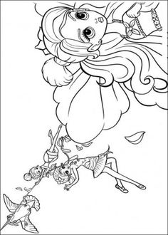 Barbie Thumbelina Coloring Page 15
