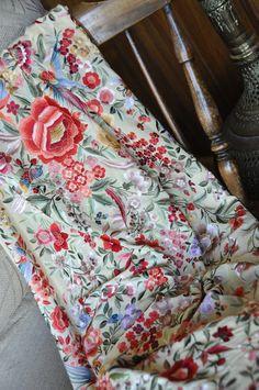 Collectable hand embroidered piano shawl, mantones. £1,009.99, via Etsy.
