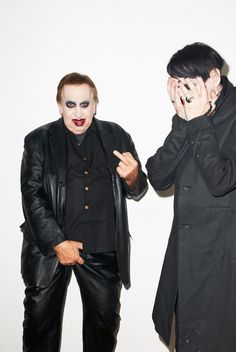 Marilyn Manson and Hugh Warner.