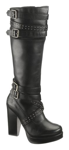 83546 - Harley-Davidson® Womens Karlia Black Leather High Cut Boot - Barnett Harley-Davidson®