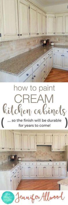 How to paint cream k
