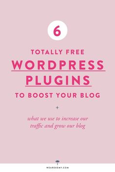 WORDPRESS PLUGINS TO BOOST YOUR BLOG:  // Wordpress for therapists, counselors and social workers