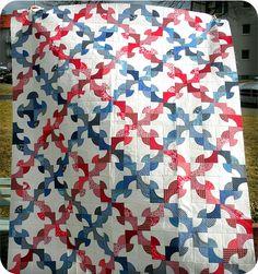 Drunkard's Path -- I like this pattern!