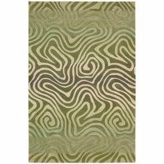 Nourison Contour Exquisite Design Contemporary Area Rug Green
