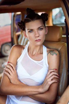 Model: Hanna Gawliczek  photo&retouch: Łukasz Łaski clothes: Aleksandra Frydecka hair: Paulina Frydecka
