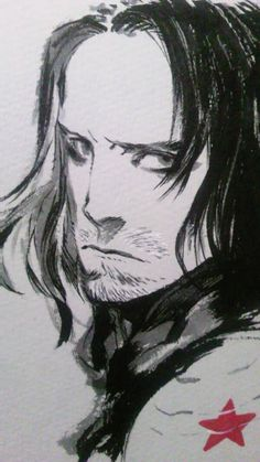 "Crunchyroll - Manga Artist Shirow Miwa Sketches ""Captain America: The Winter Soldier"""