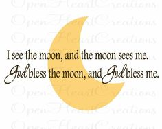 I See the Moon and the Moon Sees Me Vinyl by openheartcreations, $45.00