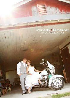 Wedding/Engagement Photos w/Harley Davidson Motorcycles