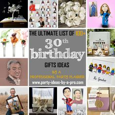 The ultimate list of birthday gifts with ideas for men and women, including sentimental gifts, gift baskets, gag gifts, and gadgets. Generation Photo, 30th Birthday Gifts, 30 Gifts, Sentimental Gifts, Gift Baskets, Party, Sympathy Gift Baskets, Gift Basket, Receptions