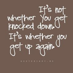 it's not whether you get knocked down