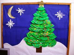 1ο Νηπιαγωγείο Ηρακλείου Αττικής: Χριστουγεννιάτικο δέντρο με χάρτινα πιάτα.