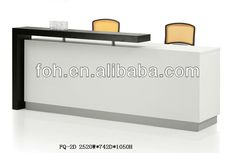 Modern White Custom Design Reception Counter Table/ Reception Desks for Salons(FOHFQ-2D)