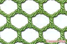 Филейное вязание - имитация кружева филе, в котором сначала вяжется сетка, на которой затем вышивают узоры. При филейном вязании клетки узора выполняют сразу, вместе с сеткой.