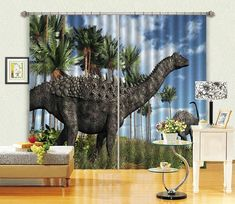 3D Huge Dinosaurs Curtains Drapes | AJ Wallpaper 3d Curtains, Europe Photos, Dinosaurs, Wallpaper, Prints, Wallpapers, Printmaking