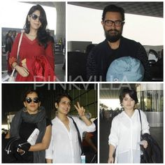 Aamir, Fatima, Sanya, Sakshi and Zaira make a Dhaakad entry to the airport!
