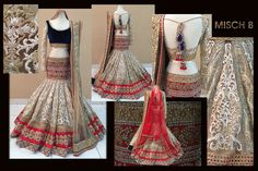 Empresses of Elegance - bridal lehenga by MischB Couture