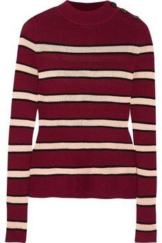 Étoile Isabel Marant | Devona striped stretch-knit sweater | NET-A-PORTER.COM