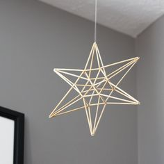 modern mobile : natural star himmeli